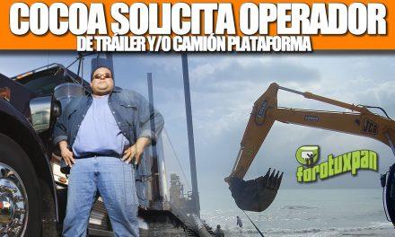 COCOA SOLICITA OPERADOR DE TRÁILER Y/O CAMIÓN PLATAFORMA