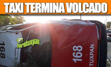 TAXI 168 TERMINA VOLCADO