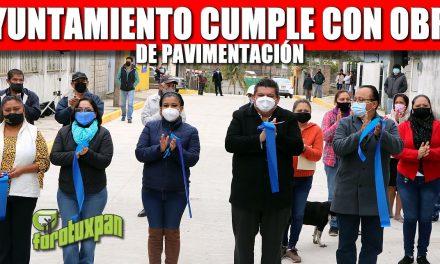 AYUNTAMIENTO CUMPLE CON OBRA DE PAVIMENTACIÓN Y NUEVO ACCESO A LA COLONIA EL ESFUERZO