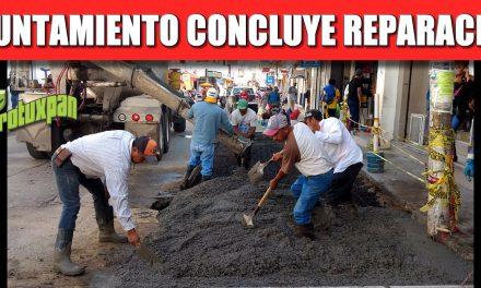AYUNTAMIENTO CONCLUYE REPARACIÓN DE LA CALLE GENARO RODRÍGUEZ