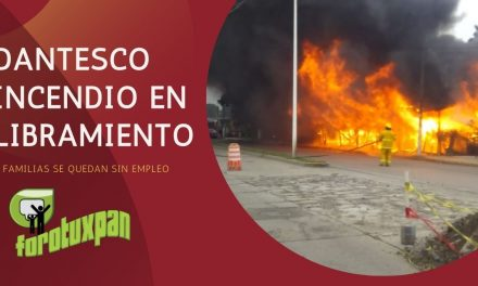 Dantesco Incendio en Libramiento