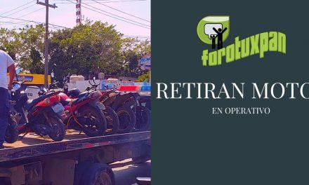 RETIRAN MOTOS EN OPERATIVO