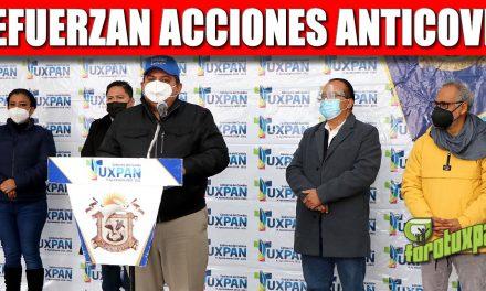 GOBIERNO DE TUXPAN REFUERZA ACCIONES PARA CONTENER LOS CONTAGIOS DE COVID-19