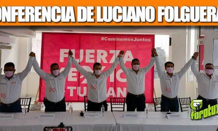 CONFERENCIA DE LUCIANO FOLGUERAS PIOLI PRESIDENTE EN TUXPAN DEL PARTIDO FUERZA MEXICO
