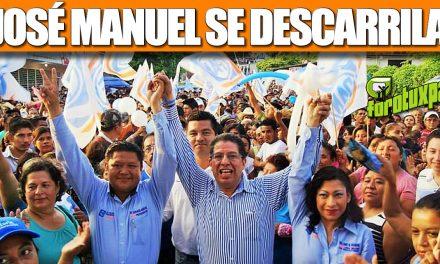 JOSÉ MANUEL SE DESCARRILA