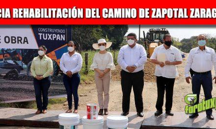 GOBIERNO MUNICIPAL INICIA REHABILITACIÓN DEL CAMINO Y CALLES DE ZAPOTAL ZARAGOZA