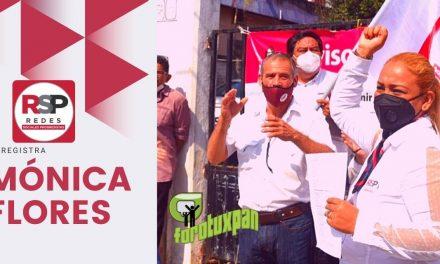 SE REGISTRA MONICA FLORES DE RSP EN BUSCA DE LA DIPUTACION FEDERAL POR EL DISTRITO 3