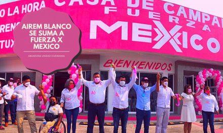 AIREM BLANCO ABANDONA A UNIDAD CIUDADANA Y SE SUMA A FUERZA X MEXICO