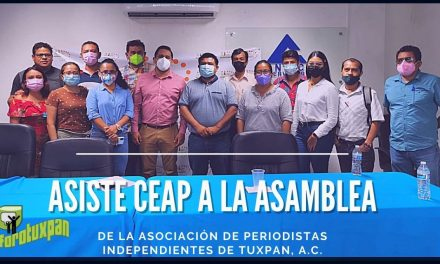 Asiste CEAPP a asamblea de periodistas en Tuxpan