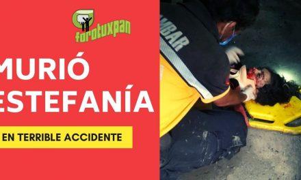 MURIÓ Estefanía en un terrible accidente
