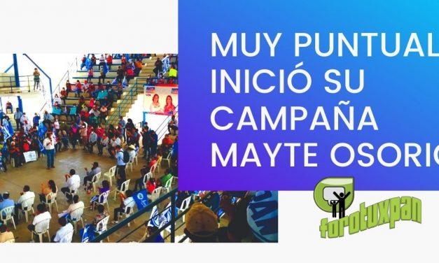 Comienza Mayte Osorio su campaña con buenas propuestas
