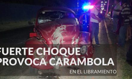 FUERTE CHOQUE PROVOCA CARAMBOLA EN EL LIBRAMIENTO