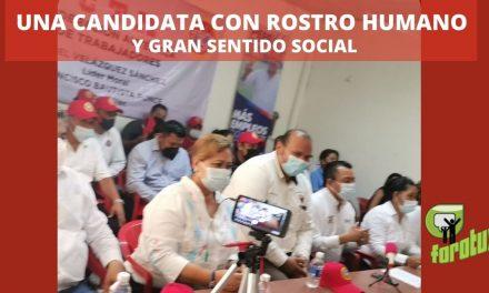 UNA CANDIDATA CON ROSTRO HUMANO Y GRAN SENTIDO SOCIAL