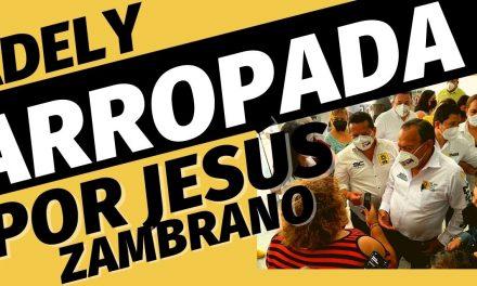 Jesús Zambrano arropa a Adely Morales