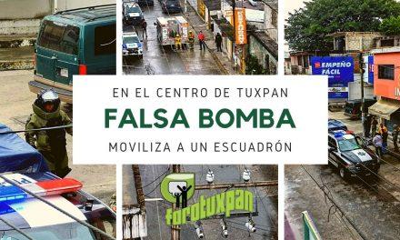 FALSA BOMBA En el centro de Tuxpan