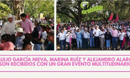 BRAULIO GARCÍA NIEVA, MARINA RUÍZ Y ALEJANDRO ALARCÓN, SON RECIBIDOS CON UN GRAN EVENTO MULTITUDINARIO.