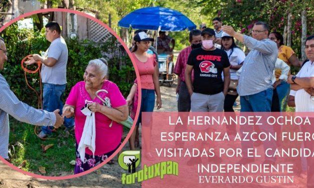 LA HERNANDEZ OCHOA Y ESPERANZA AZCON FUERON VISITADAS POR EL CANDIDATO INDEPENDIENTE EVERARDO GUSTIN
