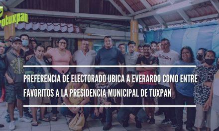 PREFERENCIA DE ELECTORADO UBICA A EVERARDO COMO ENTRE FAVORITOS A LA PRESIDENCIA MUNICIPAL DE TUXPAN