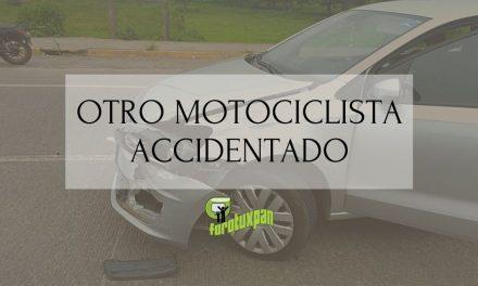 OTRO MOTOCICLISTA ACCIDENTADO