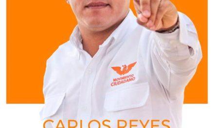 """PIDE CARLOS REYES """"MASCAREÑAS"""" VOTO ÚTIL PARA MOVIMIENTO CIUDADANO"""