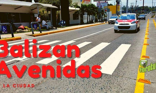 TRANSITO MUNICIPAL BALIZA AVENIDAS DE LA CIUDAD