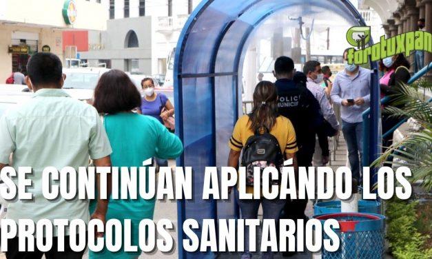 SE CONTINÚAN APLICÁNDO LOS PROTOCOLOS SANITARIOS