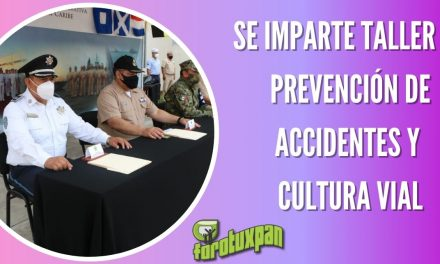SE IMPARTE TALLER DE PREVENCIÓN DE ACCIDENTES Y CULTURA VIAL