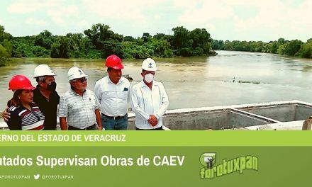 DIPUTADOS SUPERVISAN OBRAS DE CAEV