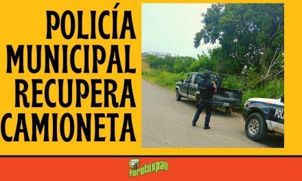 Policía Municipal recupera CAMIONETA