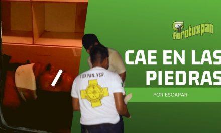 CAE EN LAS PIEDRAS POR ESCAPAR