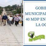 GOBIERNO MUNICIPAL INVIRTIÓ 40 MDP EN OBRAS EN LA OCHOA