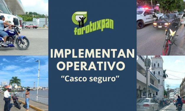 "IMPLEMENTAN OPERATIVO ""Casco seguro"""