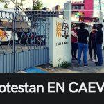 USUARIOS TUXPEÑOS PROTESTAN FRENTE A CAEV