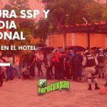 Captura SSP y GUARDIA NACIONAL MIGRANTES en el Hotel España